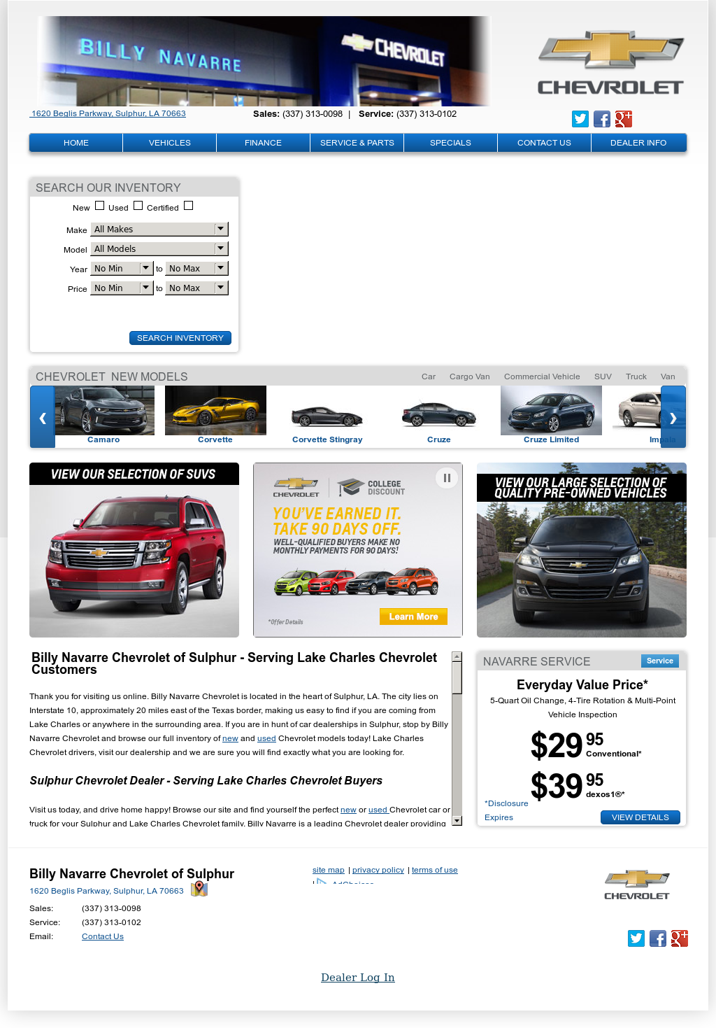 Billy Navarre Sulphur La >> Billy Navarre Chevrolet Competitors Revenue And Employees