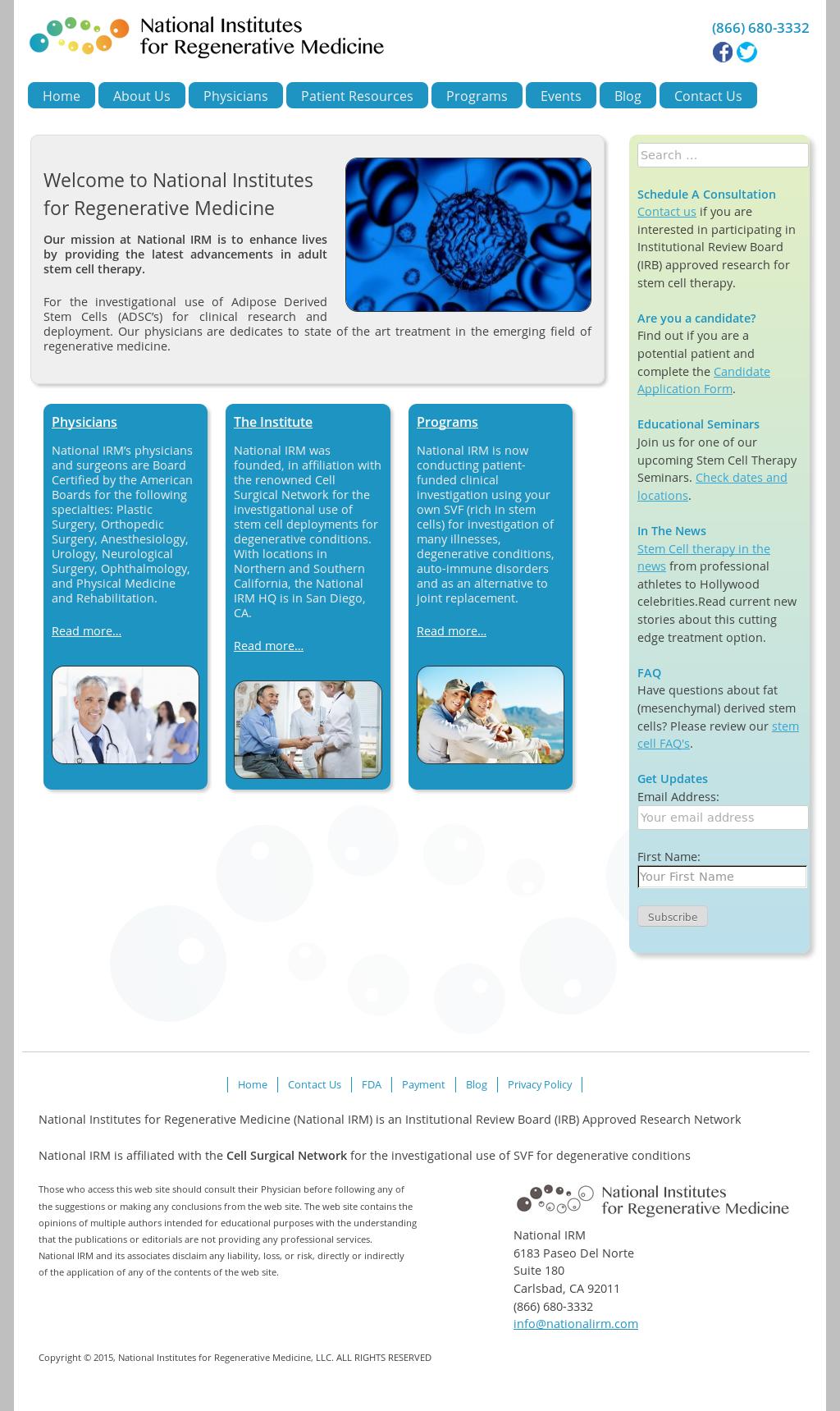National Institutes For Regenerative Medicine Competitors, Revenue
