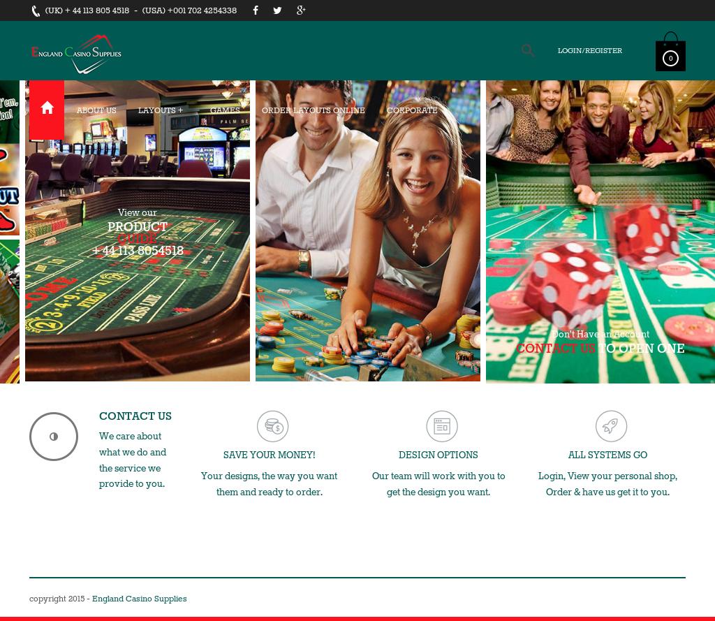 England casino supplies baccarat catalogue download