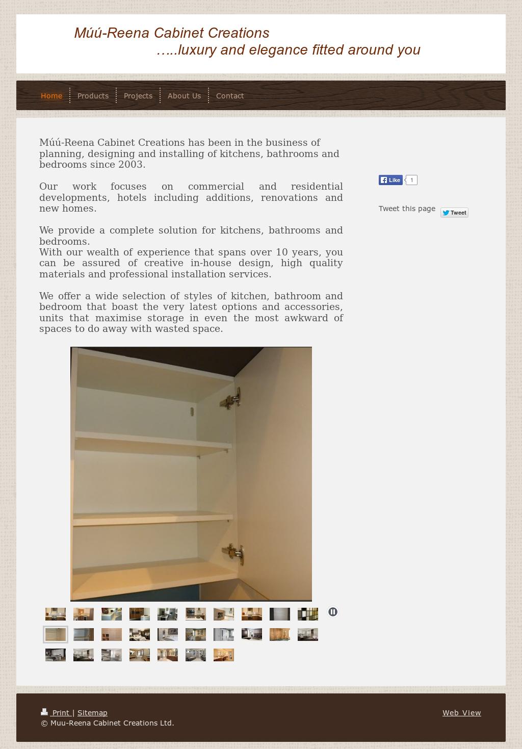 Muu Reena Cabinet Creationsu0027s Website Screenshot On Jun 2015