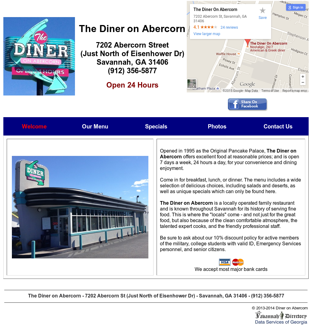 The Diner On Abercorn Competitors, Revenue and Employees