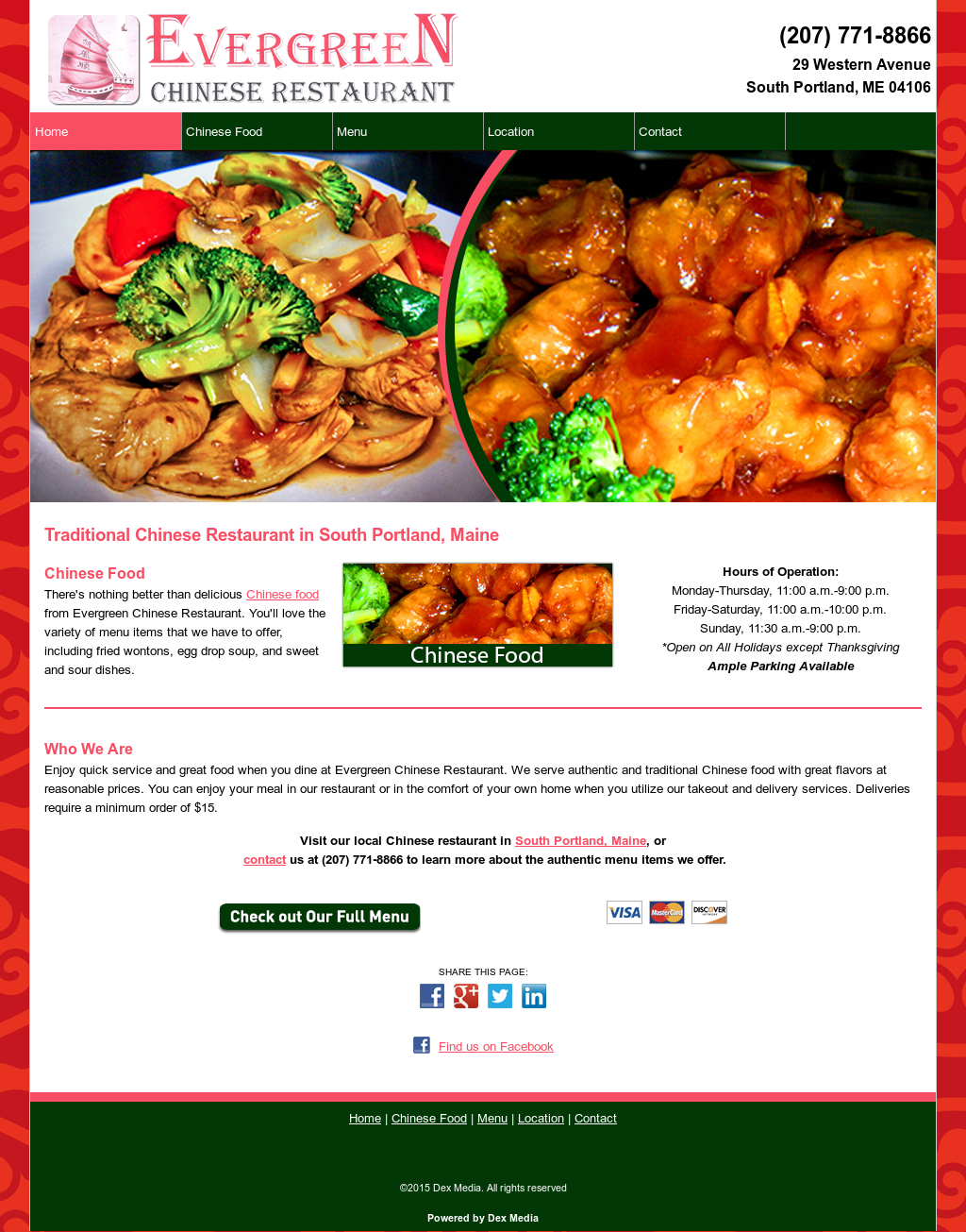 Evergreen Chinese Restaurant South Portland Compeors Revenue And Employees Owler Company Profile
