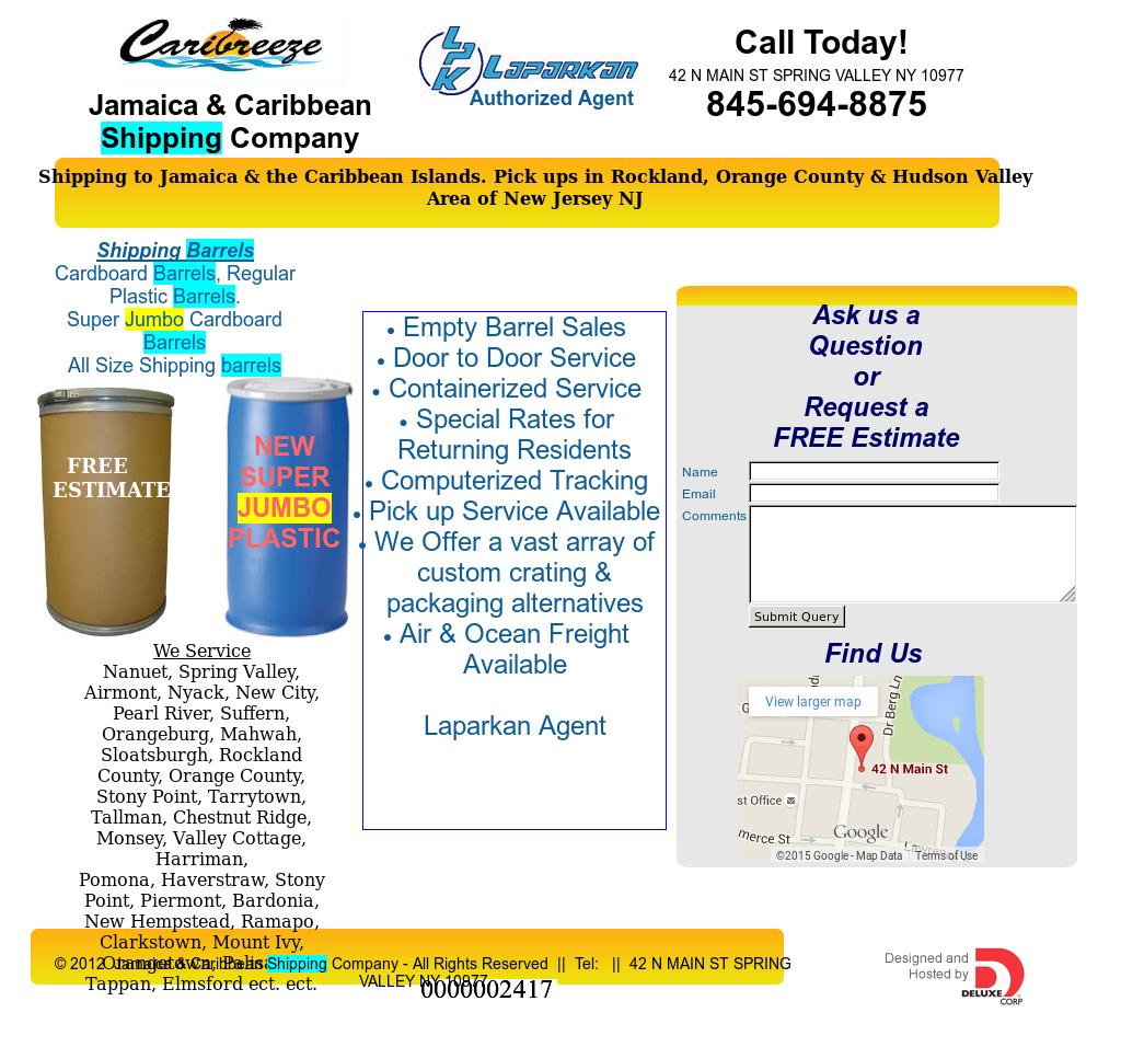 Jamaica & Caribbean Shipping Company Competitors, Revenue