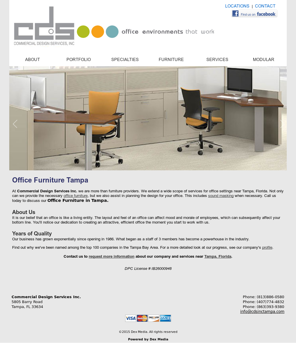 commercial design services competitors revenue and employees