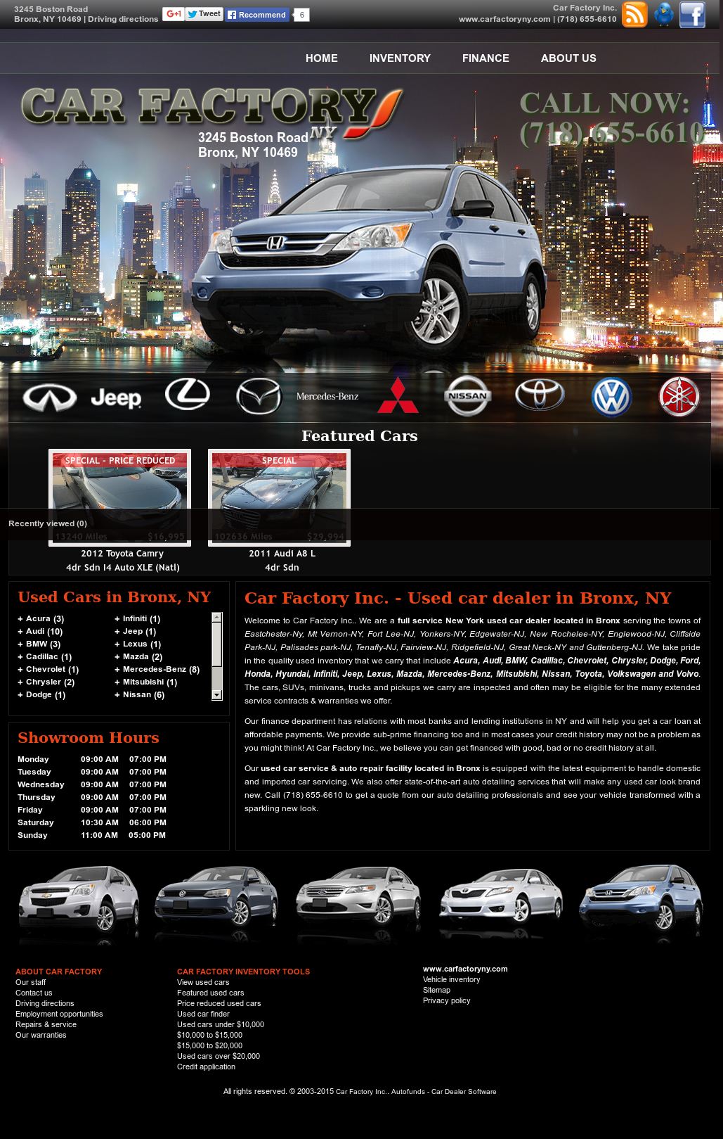 Bronx Car Dealers >> Carfactoryny Competitors Revenue And Employees Owler