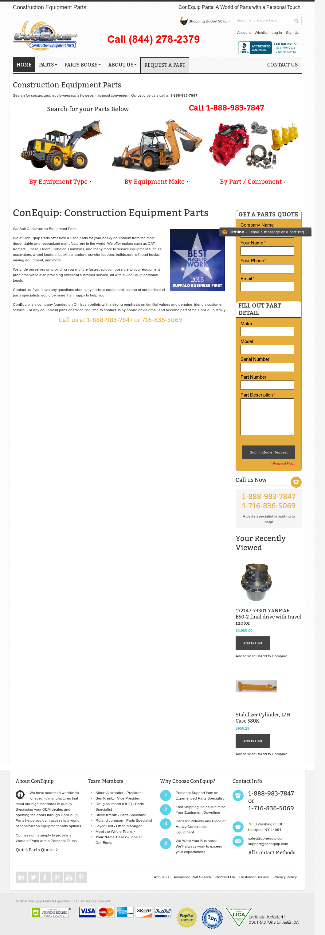 Owler Reports - Conequip Parts & Equipment: ConEquip moves to