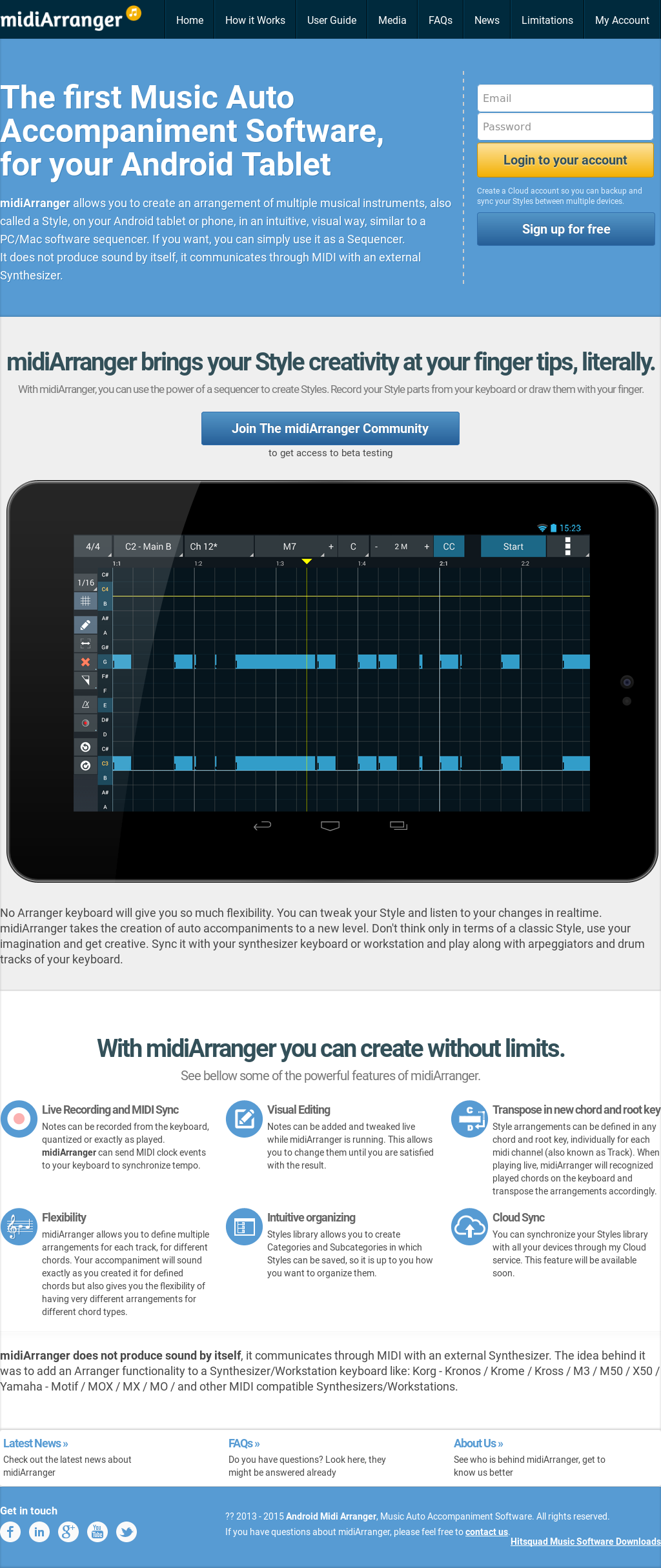 Android Midi Arranger, Music Auto Accompaniment Software