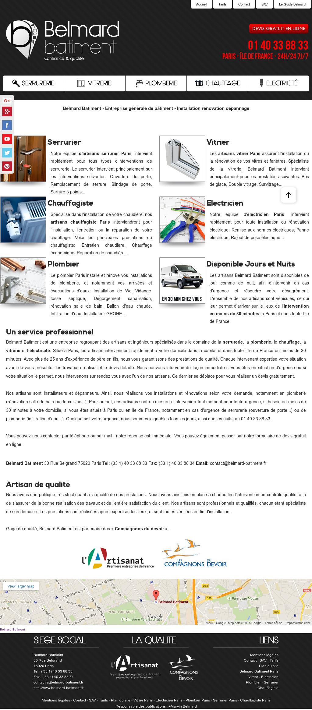 Artisan Qualifié Du Batiment belmard batiment competitors, revenue and employees - owler