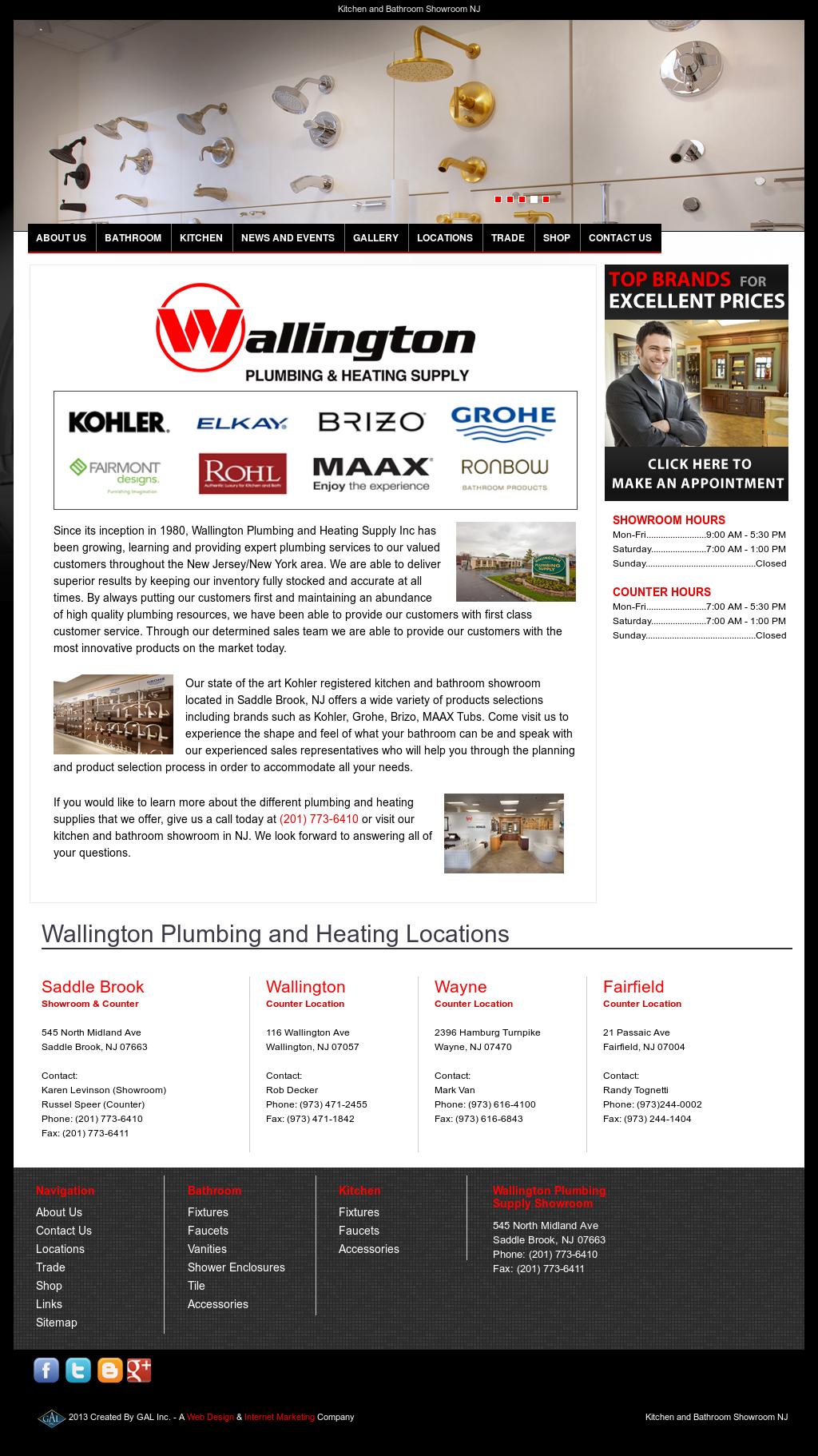 Wallington Plumbing Heating Supply Website History