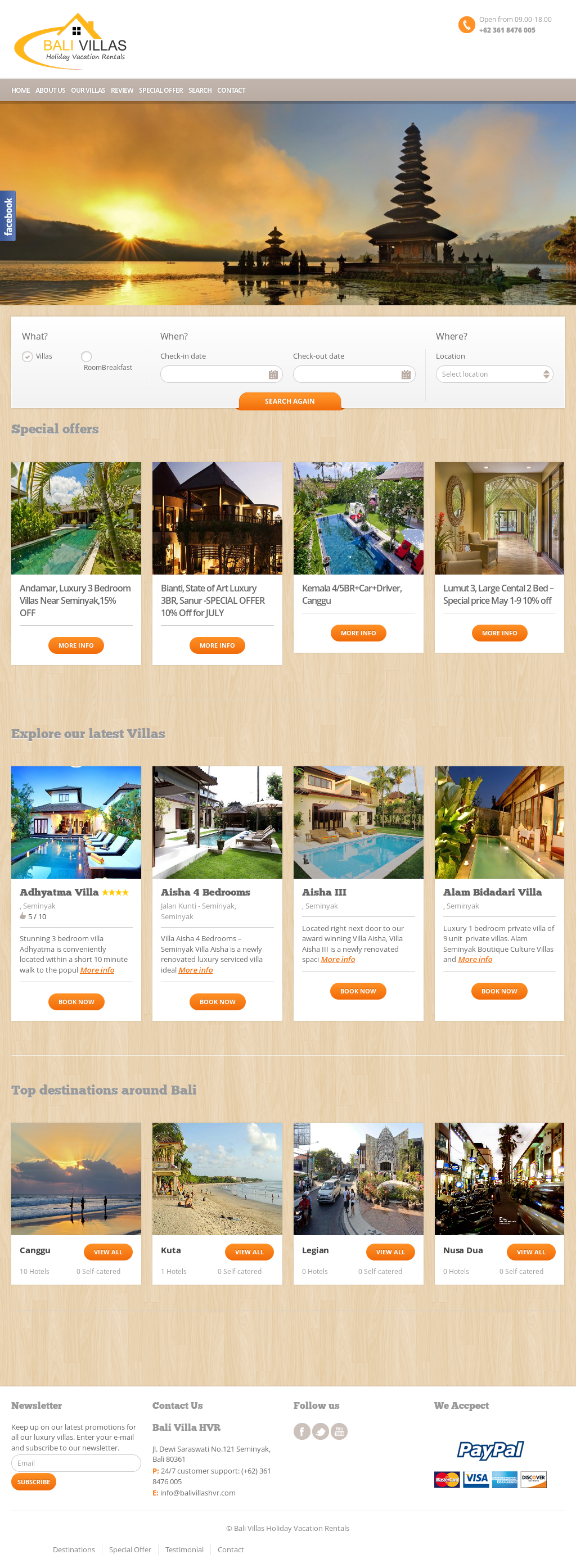 Bali Villas Holiday Vacation Rentals S Competitors Revenue Number Of Employees Funding Acquisitions News Owler Company Profile