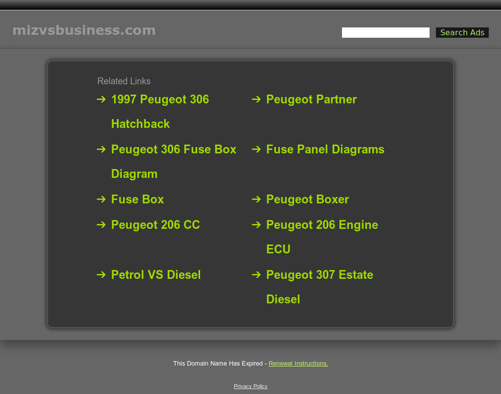 Mizvsbusiness website history