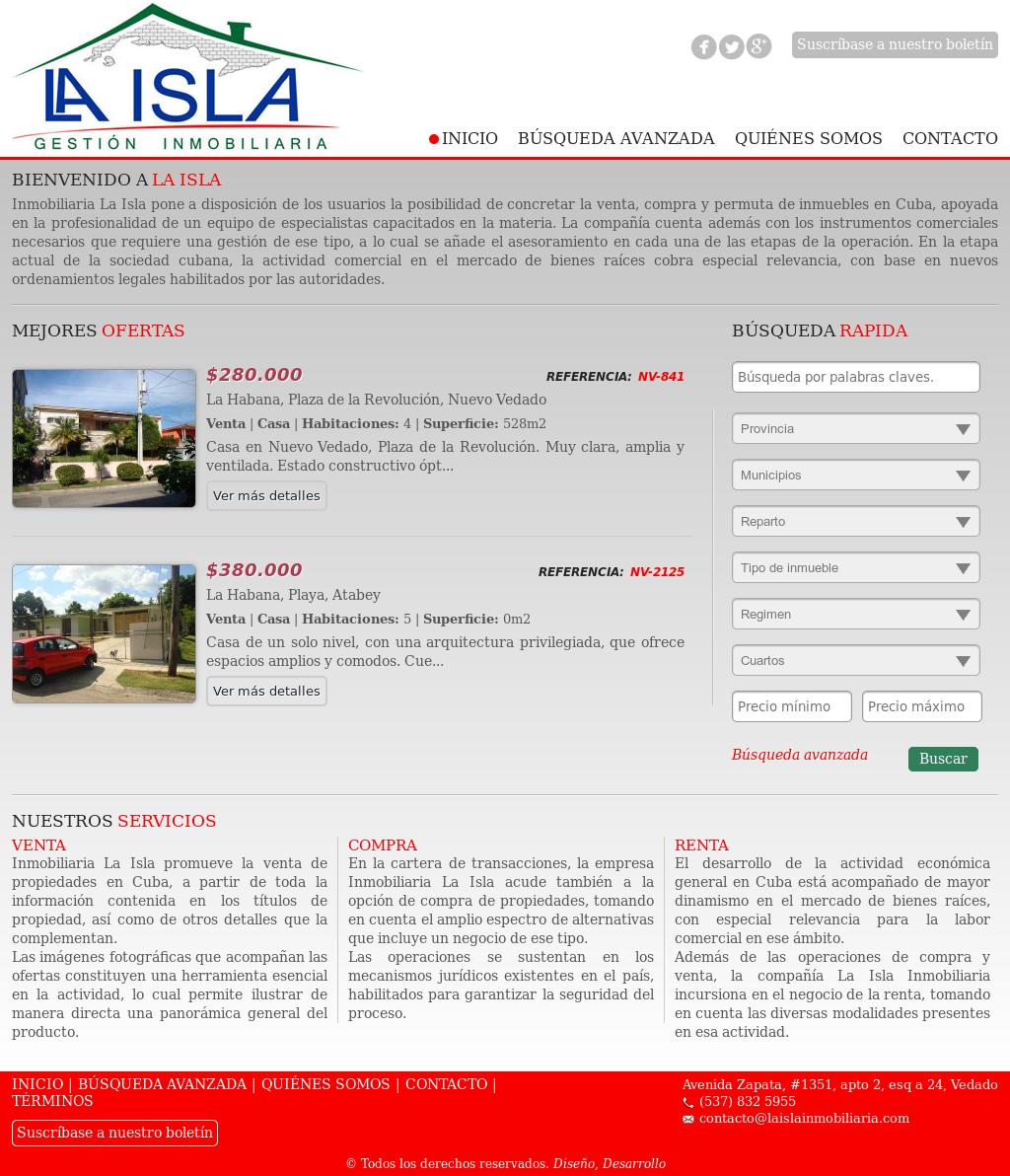 La Isla Inmobiliaria Competitors Revenue And Employees Owler