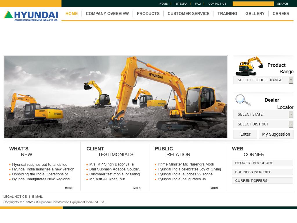 Hyundai Construction Equipment India Competitors, Revenue