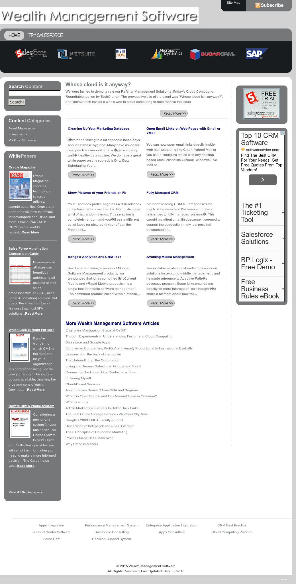 Wealth Management Software Competitors, Revenue and