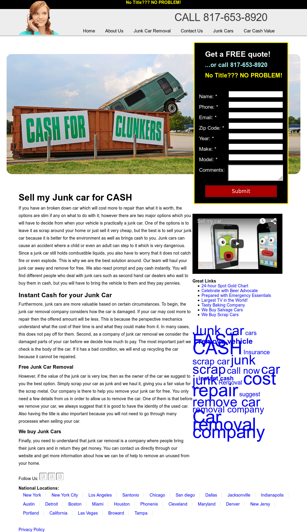 Sell My Junk Car Competitors, Revenue and Employees - Owler Company ...