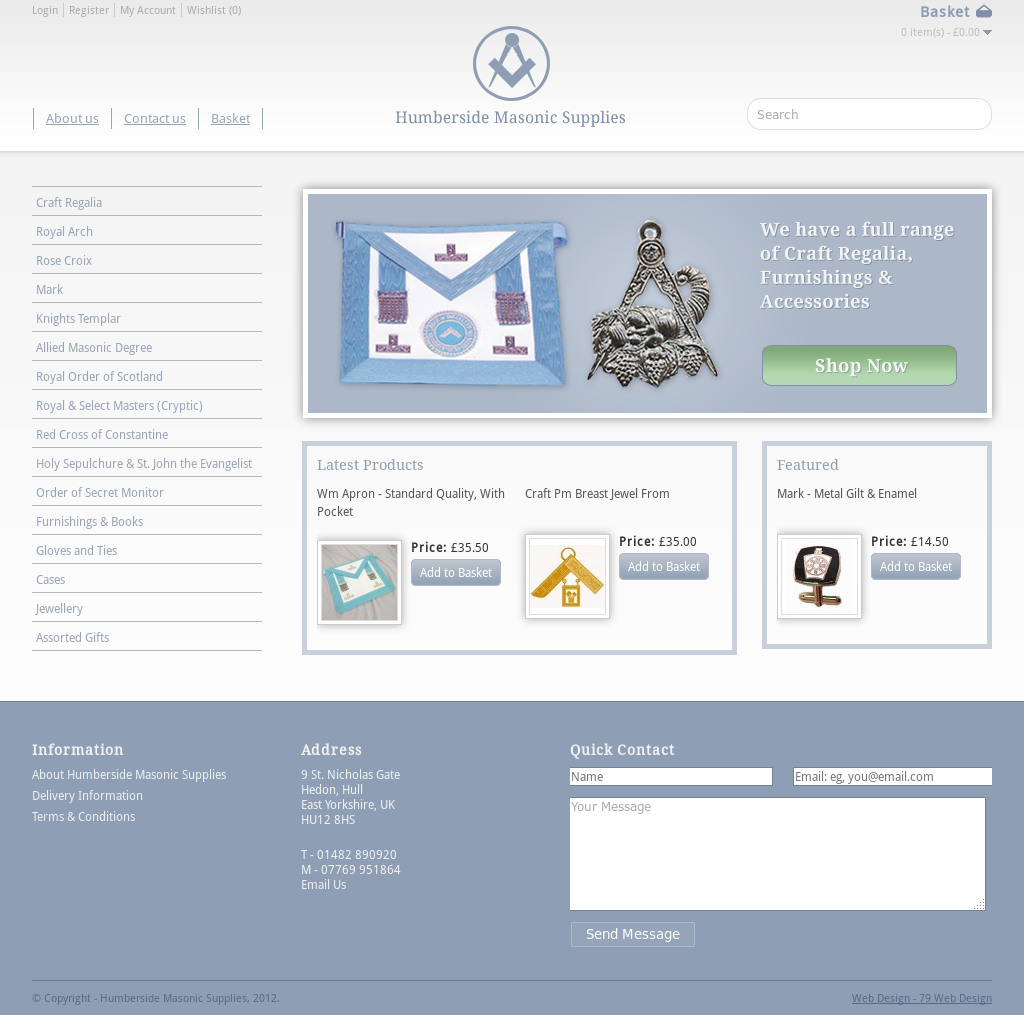Humberside Masonic Supplies Competitors, Revenue and