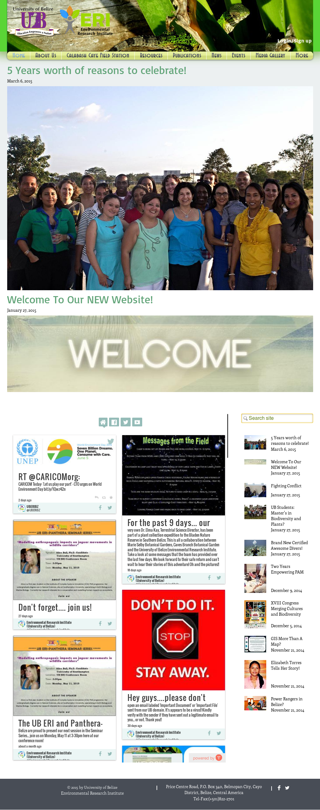 Environmental Research Institute (University Of Belize) Competitors