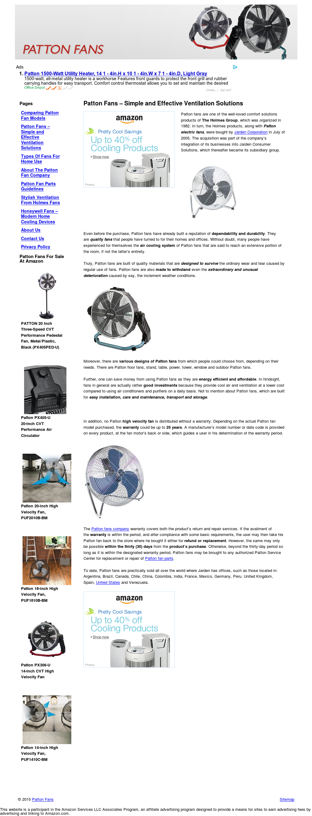 Patton Fans Competitors Revenue And Employees Owler Company Profile Space Heater Wiring Diagram