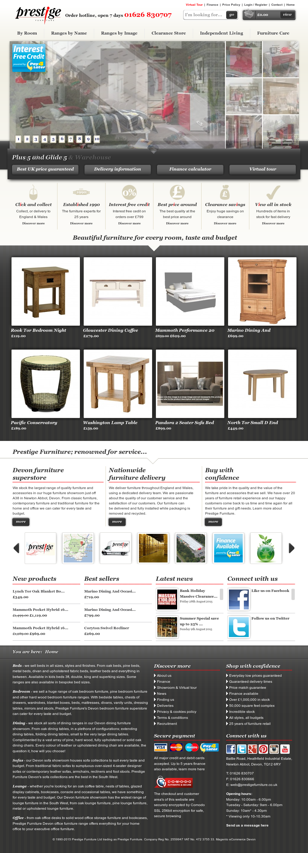 Prestige Furniture Compeors Revenue And Employees