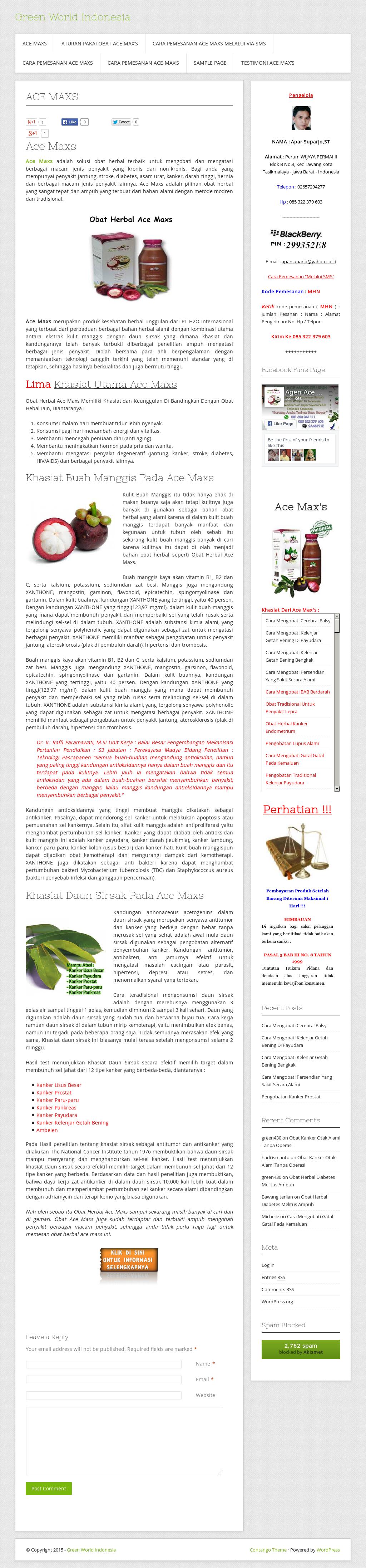 Greenworldindonesia Competitors Revenue And Employees Owler Ace Max Maxs Ekstra Kulit Manggis Dan Sirsak Company Profile