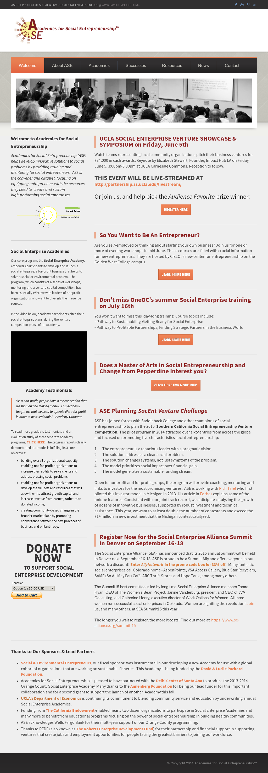 Academies For Social Entrepreneurship Competitors, Revenue