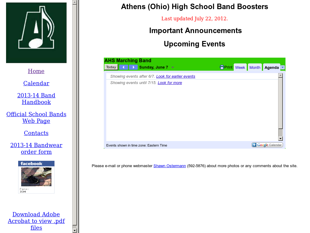Athens High School Marching Band - Athens Ohio Competitors