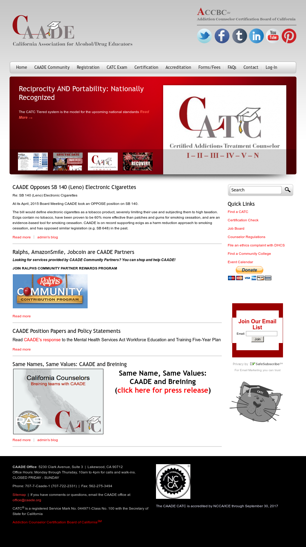 California Association For Alcoholdrug Educators Competitors