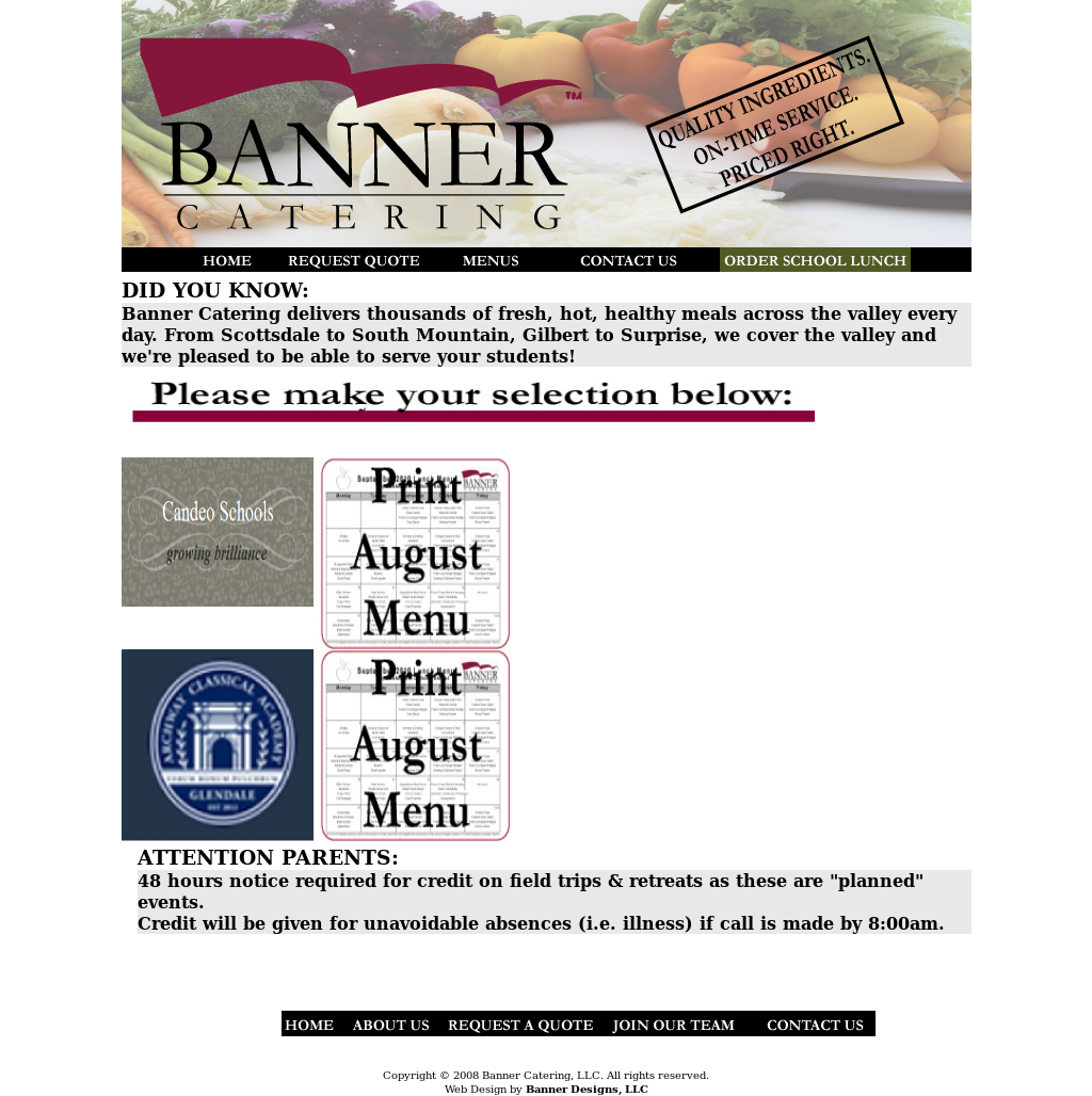 banner catering