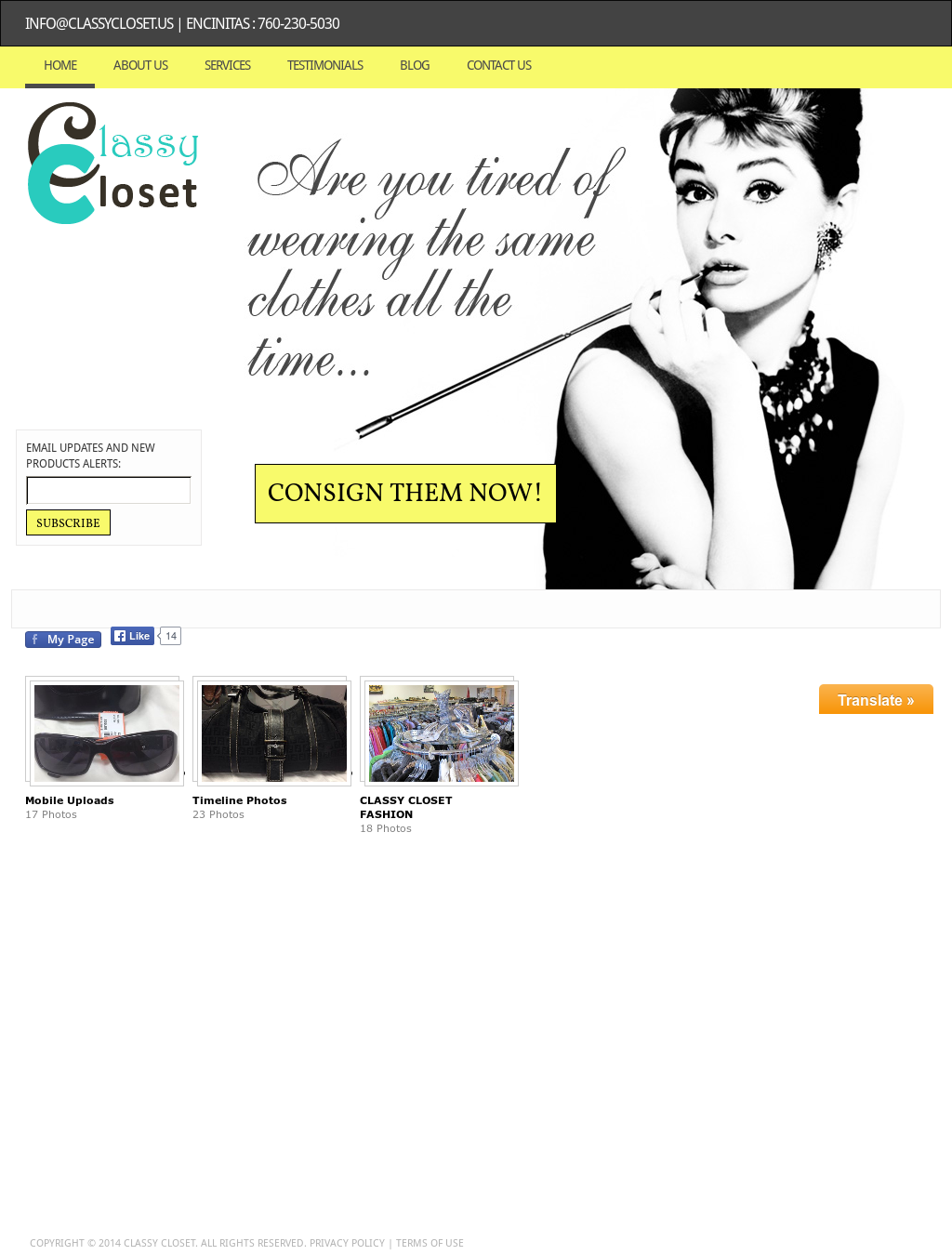Classy Closet Consignment Boutique Website History