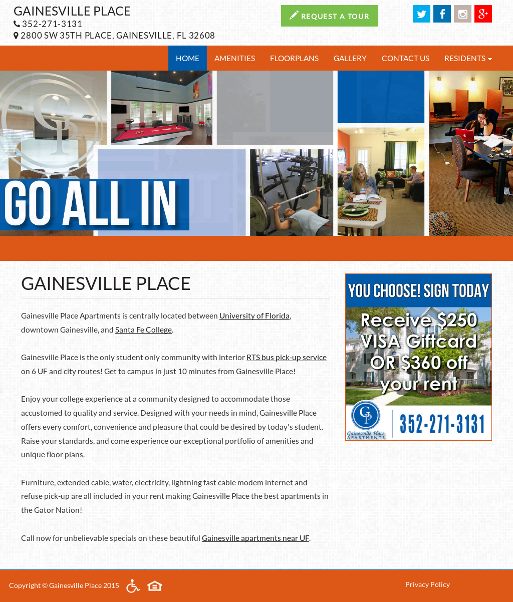 Gainesville Place Apartments : Choose the apartment that appeals to you the most.