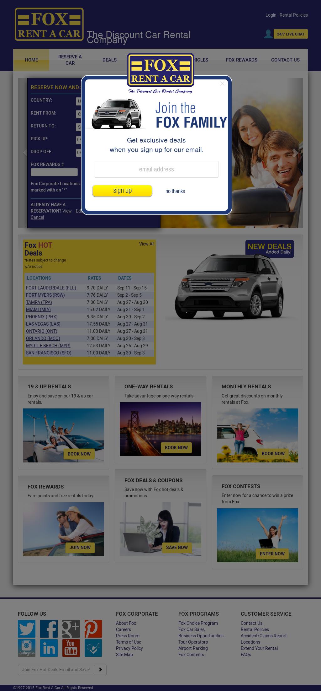 Site Foxrentacar Com Fox Car Rental