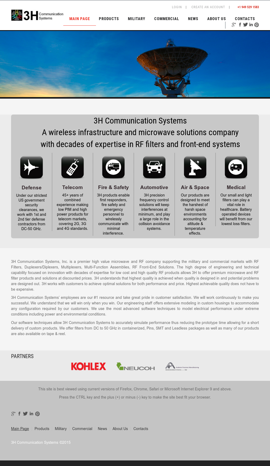 3h Communication Systems Competitors, Revenue and Employees