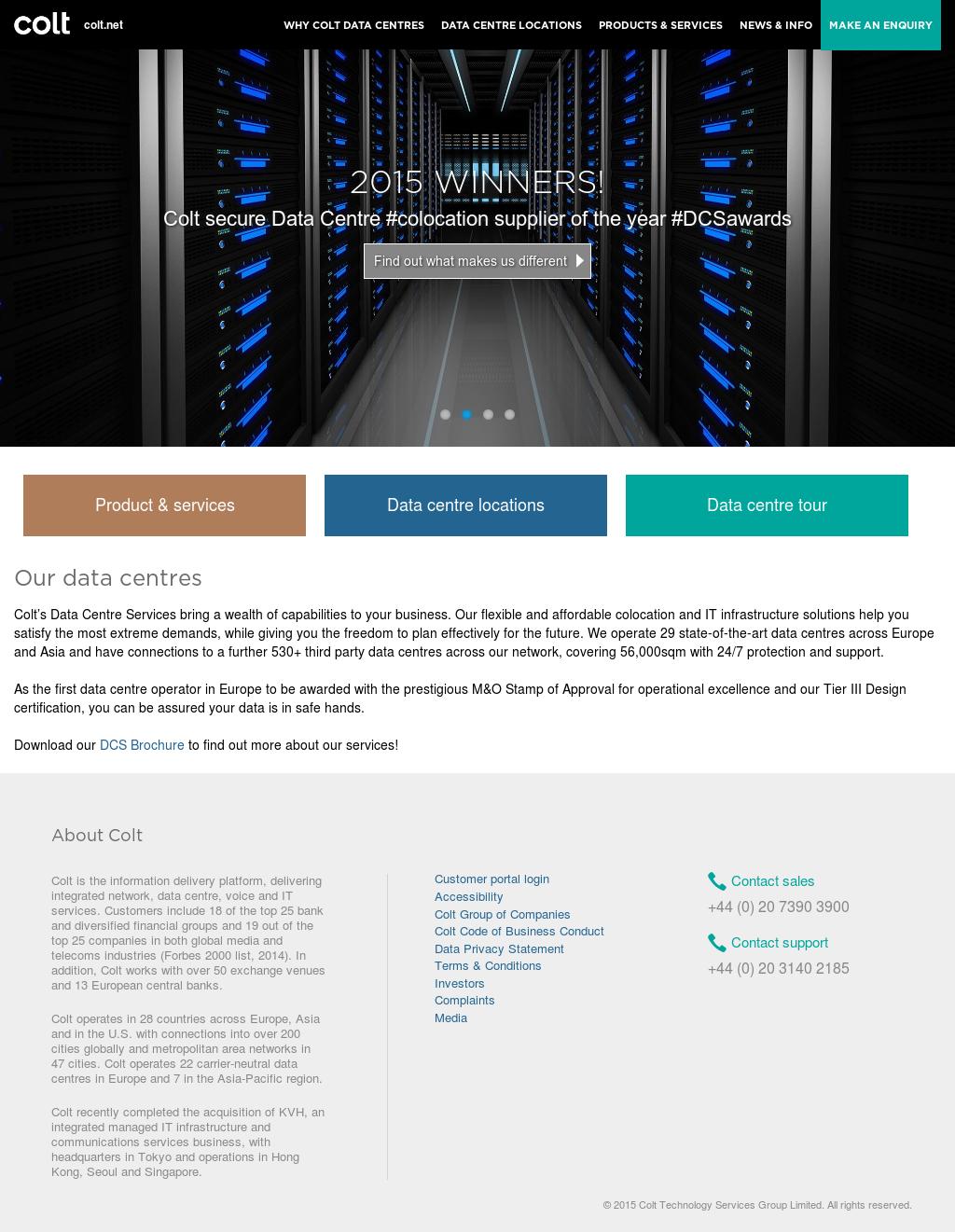 Colt Data Centre Services Competitors, Revenue and Employees