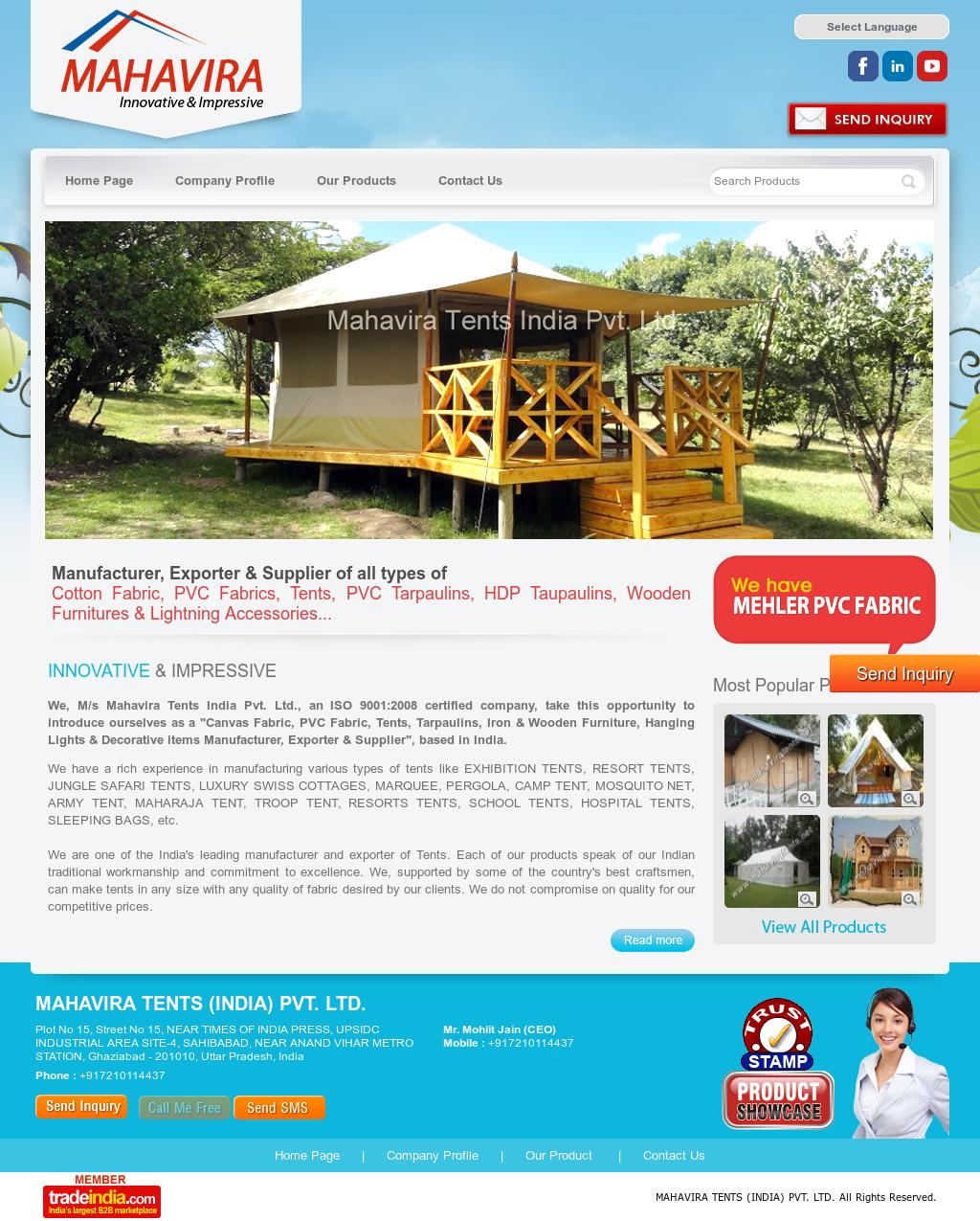 Mahavira Tents (India) Competitors, Revenue and Employees - Owler