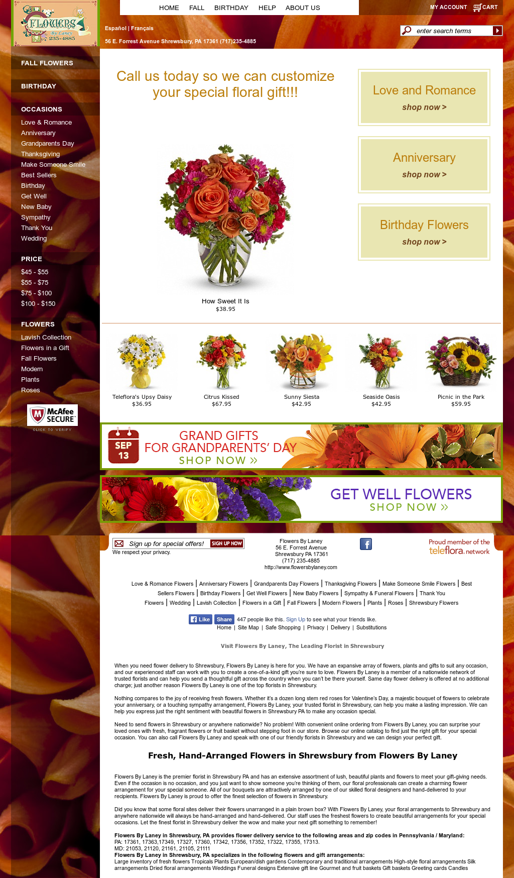 Flowers By Laney Competitors, Revenue and Employees - Owler Company Profile