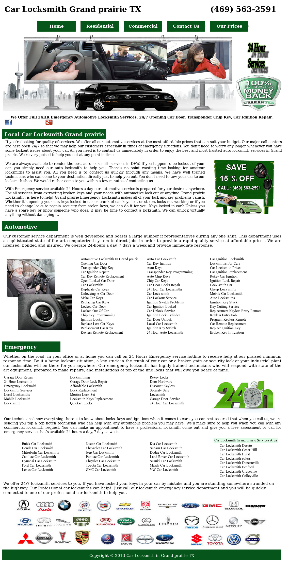 Car Locksmith Grand Prairie Competitors, Revenue and