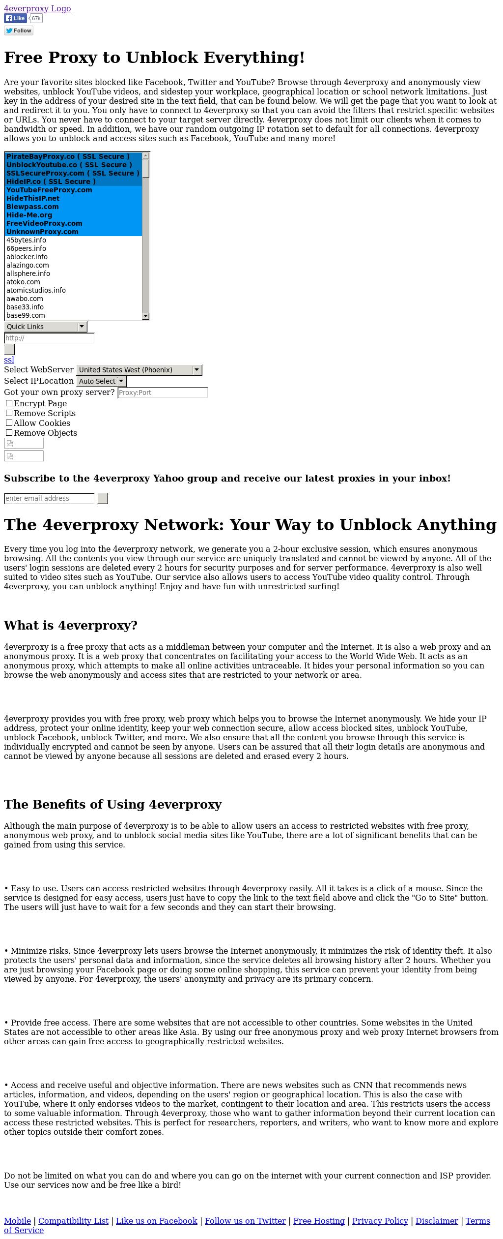 Facebook backdoor proxy