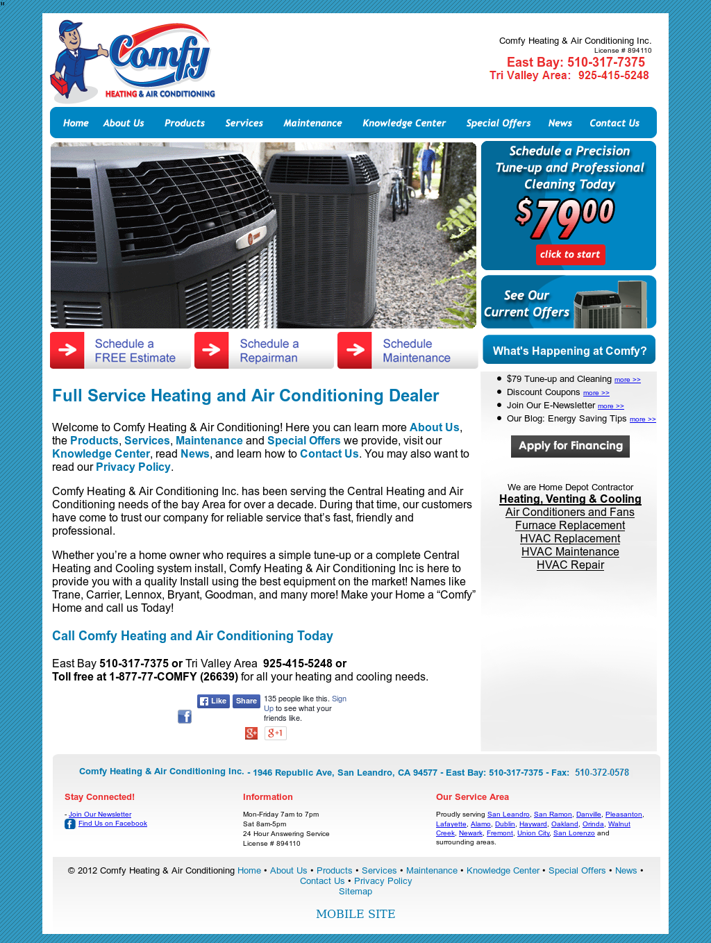 Comfy Heating Air Conditioning Compeors Revenue And Employees Owler Company Profile
