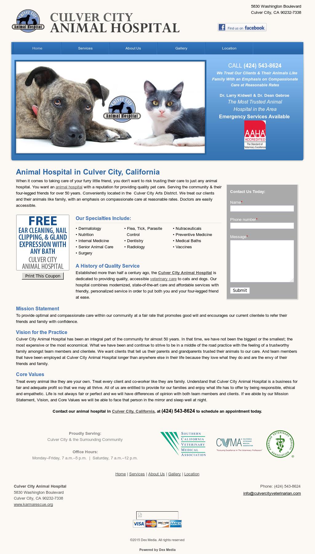 Culver City Animal Hospital Competitors, Revenue and