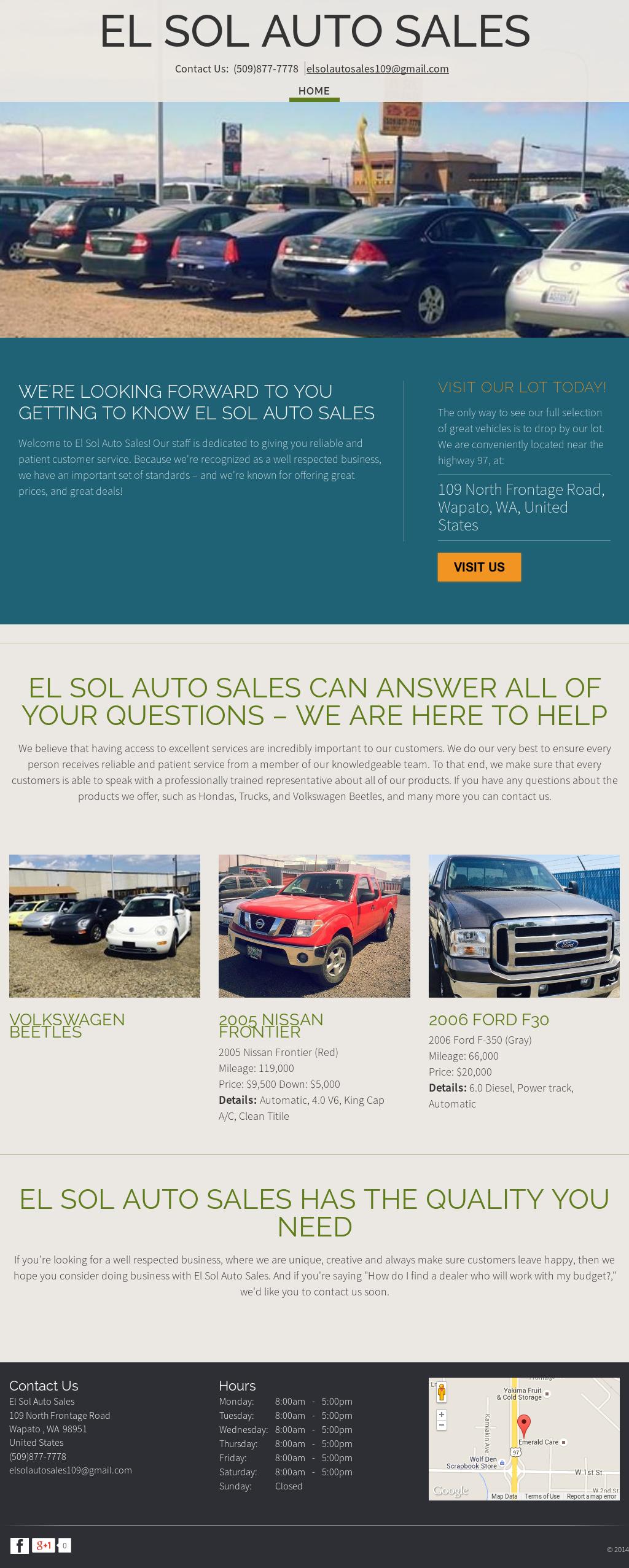 El Sol Auto Sales petitors Revenue and Employees Owler pany