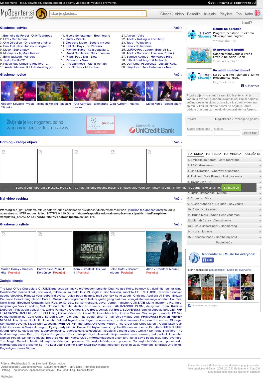 Mp3center si | Music For Everyone! Competitors, Revenue and