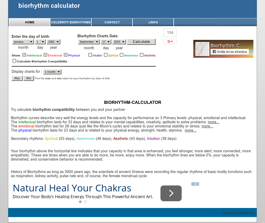 Biorhythms calculator alternatives and similar software.
