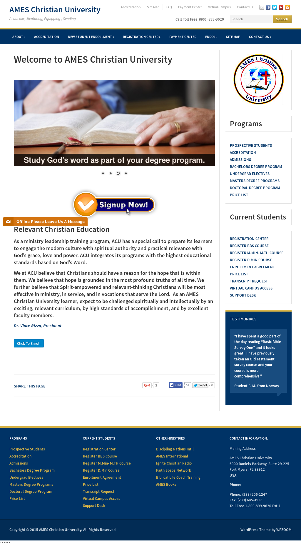 Ames Christian University Competitors, Revenue and Employees