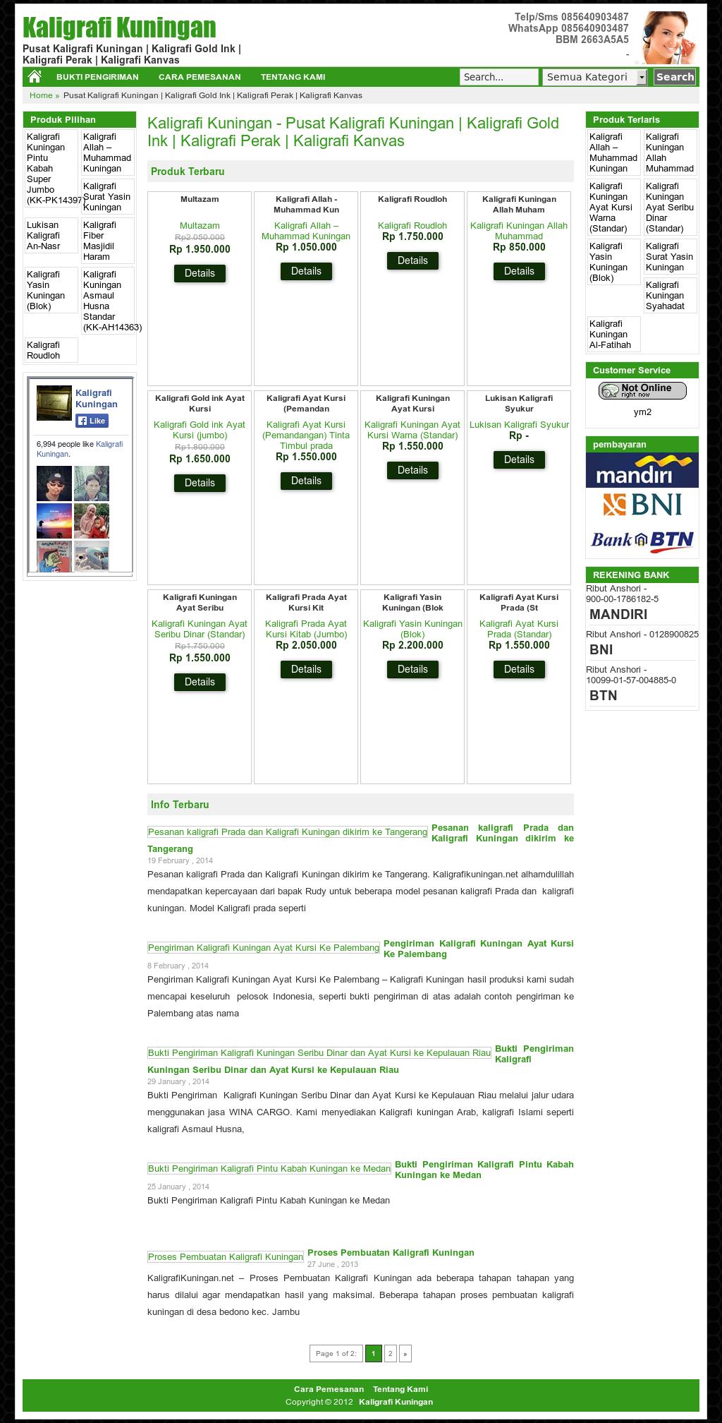 Kaligrafi Kuningan Competitors Revenue And Employees