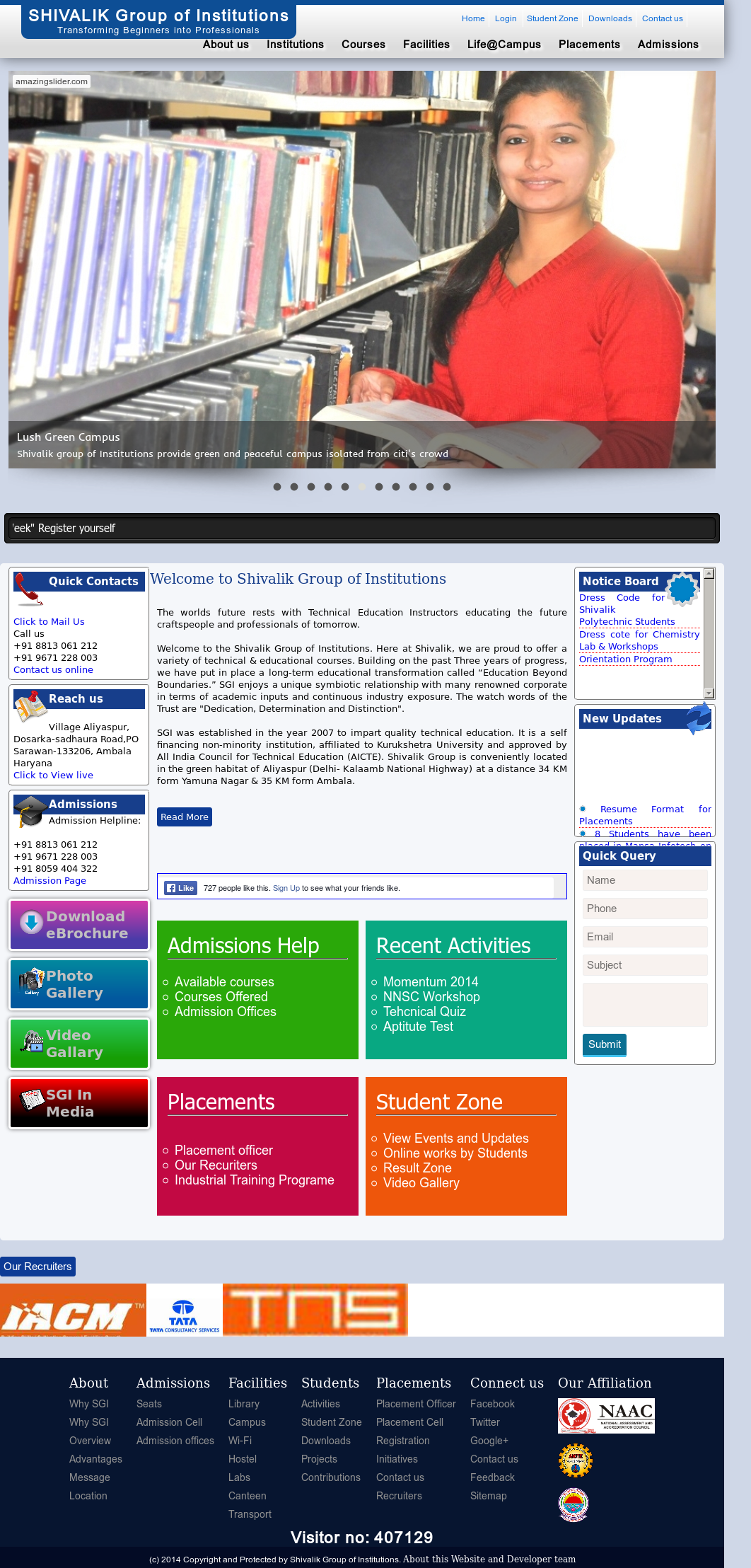 Shivalik Group Of Institutions Competitors, Revenue and