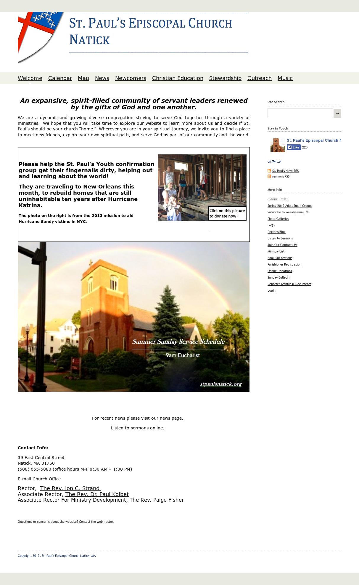 St  Paul's Episcopal Church Natick Competitors, Revenue and