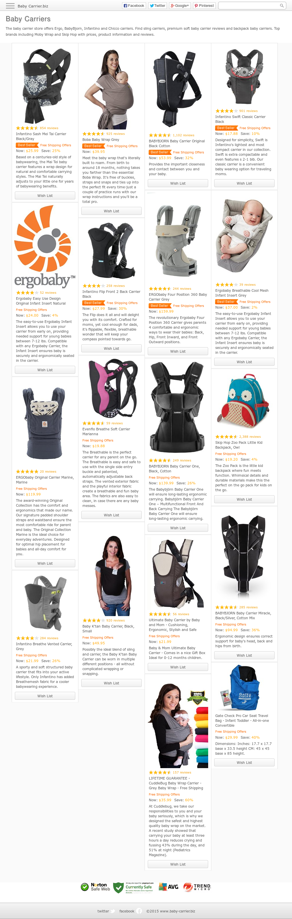 Baby Carrier Competitors Revenue And Employees Owler Company Profile