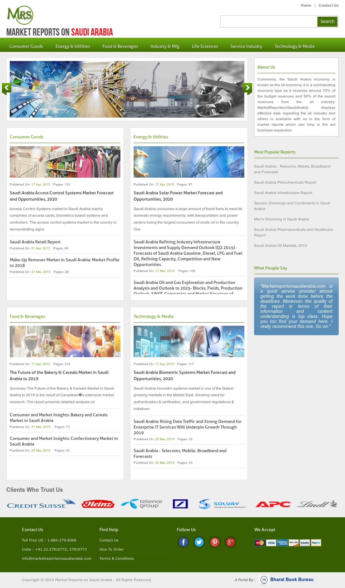 Market Reports On Saudi Arabia Competitors, Revenue and