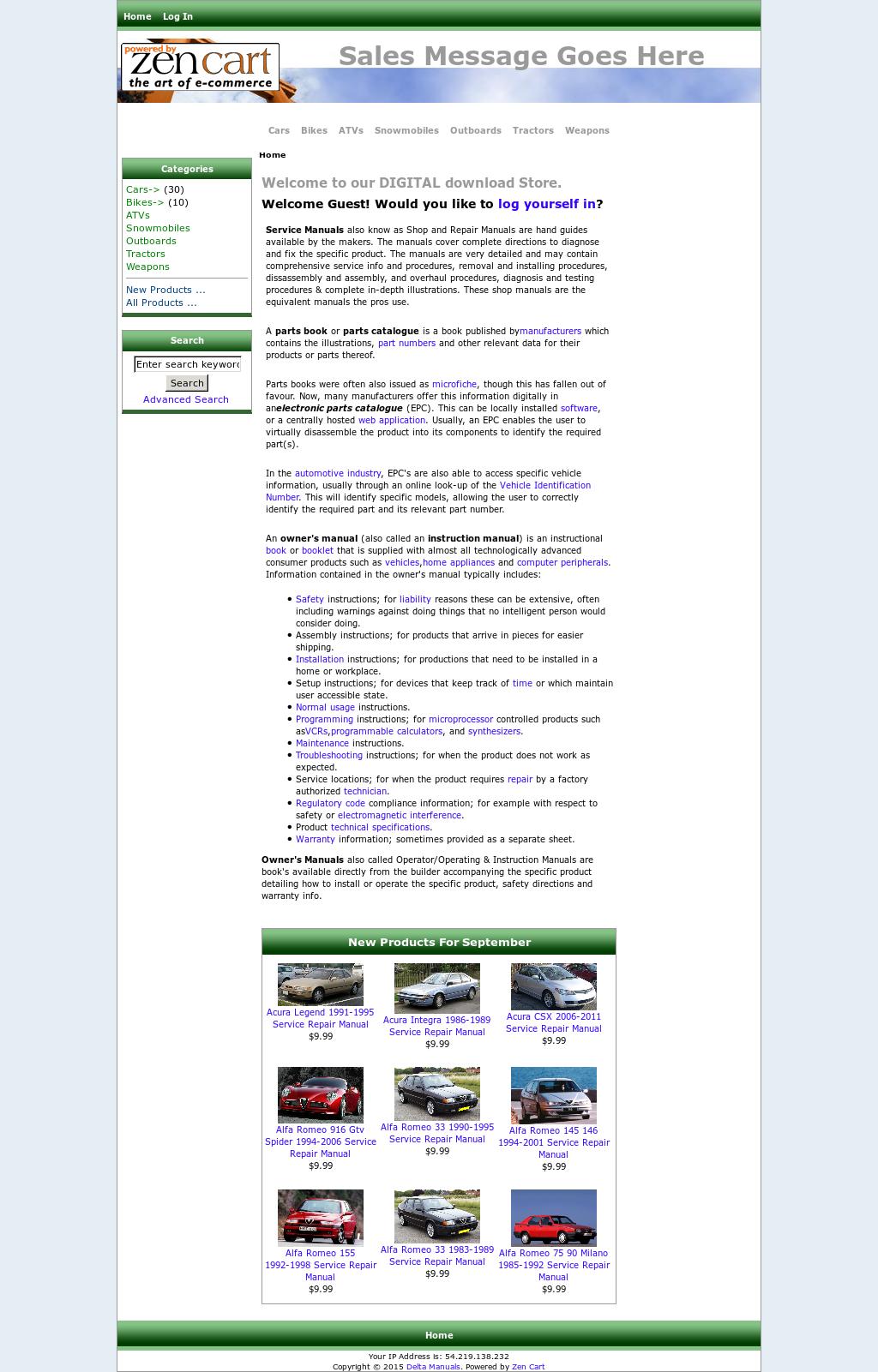 Delta Manuals website history