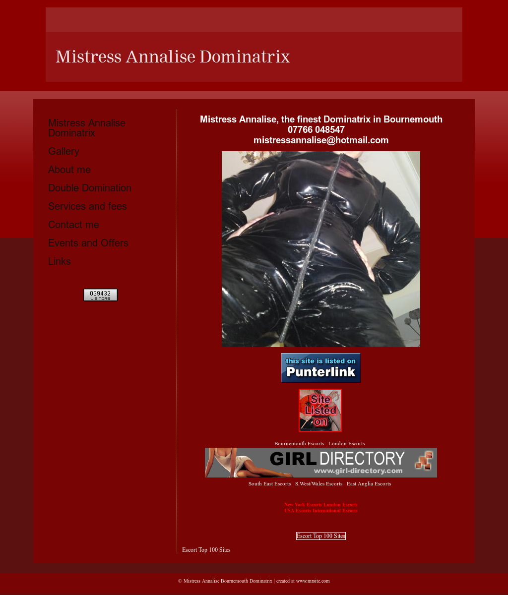 Dominatrix leather mistress recollect
